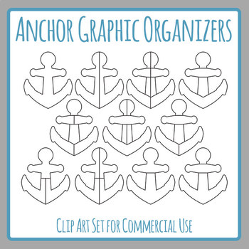 Anchor Chart Graphic Organizer Templates Clip Art Set for Commercial Use