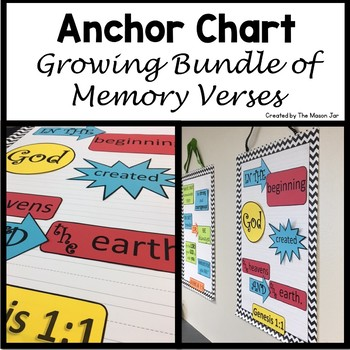 Anchor Chart Growing Bundle of Memory Verses