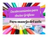 ~ 9 SPANISH Colorful Classroom Labels ~ 9 Etiquetas para Manejo Aula ~