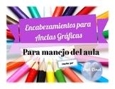 ~ 9 SPANISH Colorful Classroom Labels ~ 9 Etiquetas para M
