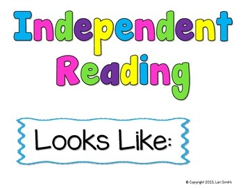 Anchor Chart Helpers - Independent Reading