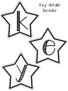Anchor Chart Kit- Key Details- Kid and Star Themed
