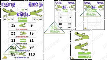 """Anchor Chart """" Mayor, Menor e Igual"""" (Spanish)"""