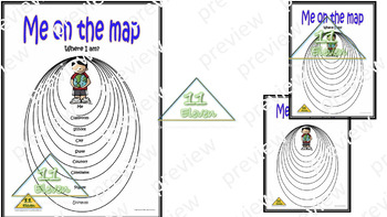 "Anchor Chart "" Me on the map"" (English)"