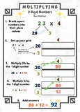 Anchor Chart - Multiplication of  2 Digit by 1 Digit Numbers Box Method