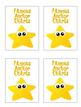 Anchor Chart Photo Book Label