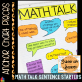 Anchor Chart Pieces for Math Talk Sentence Starters