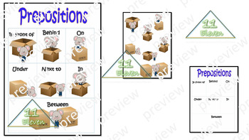 "Anchor Chart "" Prepositions"" (English)"