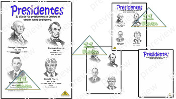 "Anchor Chart "" Presidentes"" (Spanish)"