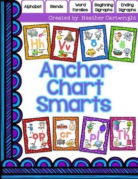 Anchor Chart Smarts- Alphabet, Word Families, Blends, & Di