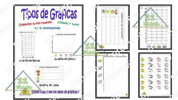 Anchor Chart (Spanish) Types of graphs, tipos de gráficas