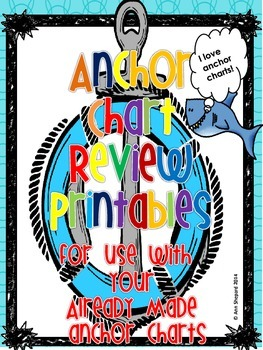Anchor Chart Student Review Printables