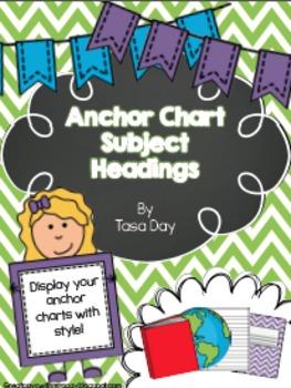 Anchor Chart Subject Headings