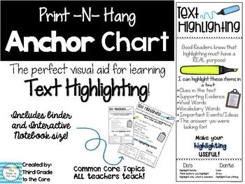 Anchor Chart Text Highlighting