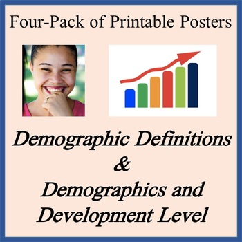 Demographic Definitions and Dev Level Posters - Easy-to-Print 11 x 17