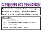 Anchor Chart- Writing to Recount