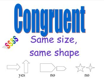Anchor Chart  for Congruency