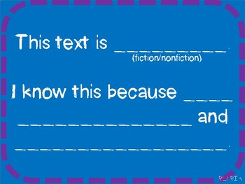 Anchor Chart for Fiction/ Nonfiction