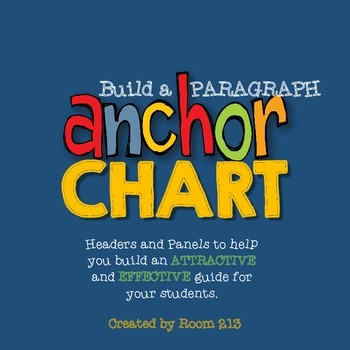 Anchor Chart for Paragraphs: Build Your Own