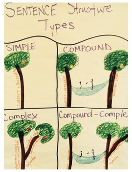 Anchor Chart for Sentence Types using a tree analogy