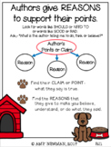 Anchor Chart for Teaching Reasons an Author Gives to Support their Points