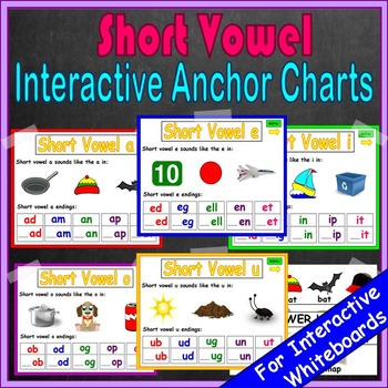 Short Vowels Kindergarten Anchor Charts | Short Vowels Activities | Word Work