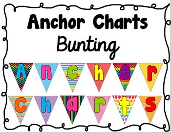Anchor Charts Bunting Sign (Rainbow Patterns)