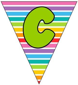 Anchor Charts Bunting Sign (Rainbow Patterns)