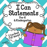 I Can Statements (Anchor Charts)