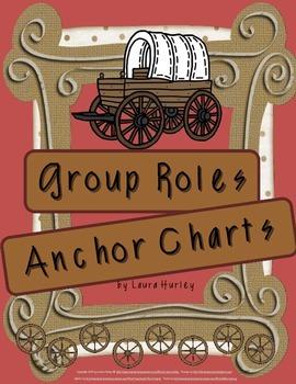 Anchor Charts Group Roles Westward Movement Theme
