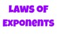 Anchor Charts - Properties & Laws of Exponents
