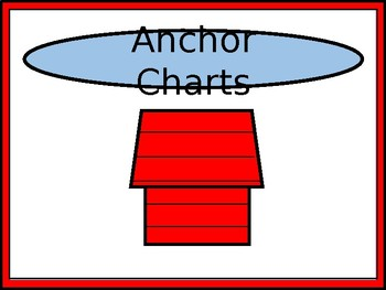Anchor Charts Trashcan Label - Charlie Brown & Snoopy Tribute