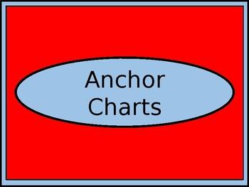 Anchor Charts Trashcan Label - Dr. Seuss Tribute Colors