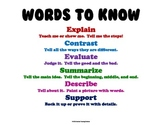 Anchor Charts - Vocabulary Words for Walls (Higher Level Thinking)