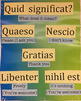 Anchor Charts for CI Latin Classroom