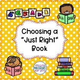 """Anchor Charts for Choosing """"Just Right"""" Books 4th Grade"""