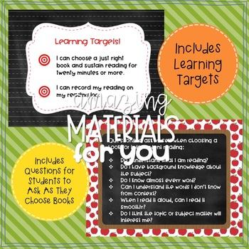 """Anchor Charts for Choosing """"Just Right"""" Books 5th Grade"""