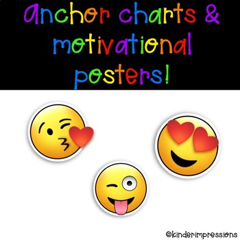 Anchor Charts for Emoji Behavior System & Motivational Posters