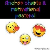 Anchor Charts for Emoji Behavior System & Motivational Posters