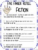 Anchor Charts for Five Finger Retell- Fiction and Nonfiction