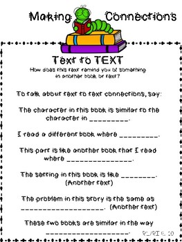 Anchor Charts for Making Connections