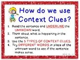 Anchor Charts to Teach Context Clues
