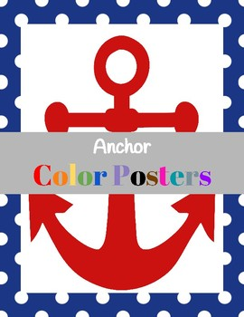 Achor Color Posters (classroom Decor)