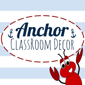 Anchor Classroom Decor Package