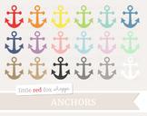 Anchor Clipart; Nautical, Boat, Ship, Sailor, Sailing, Ocean, Sea