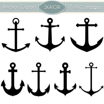 Anchor Clipart Nautical Clip Art Marine Digital Scrapbooking Silhouette Vector