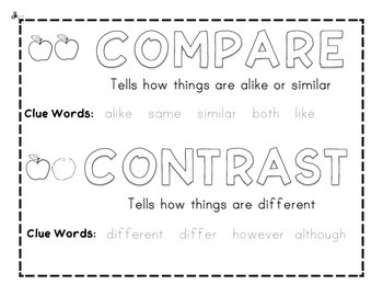 Compare & Contrast Anchor: Color & Trace
