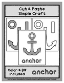 Anchor - Cut & Paste Craft - Super Easy Perfect for Pre-K