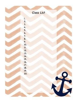 Anchor Lesson Plan Book