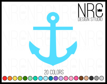Nautical anchor clipart commercial use